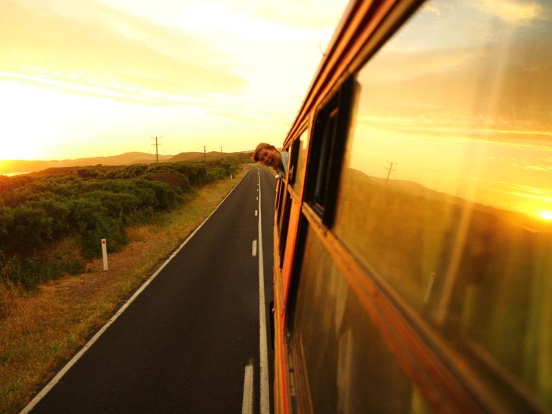 Schnelle Veränderung - Busfahrt
